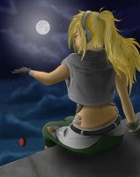 Kelly in the night by uniqueguy