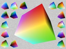 RGB color Cube Under View Win by taketo