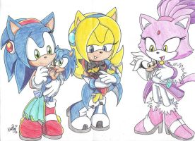 Sonic next gen. mothers by sonicartist16