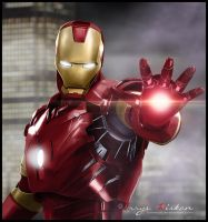 Iron Man Painting by ewiskan