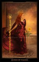 Queen of Wands by ThelemaDreamsArt