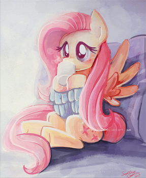 Snuggleshy by lazyperson202