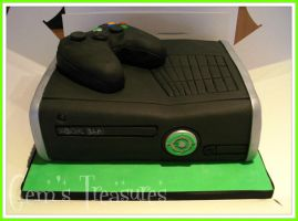 Xbox 360 Cake and Crispy Controller! by gertygetsgangster