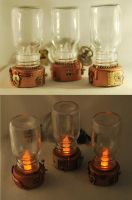 Handcrafted 'Steampunk Lantern' LED Candles. by Henri-1
