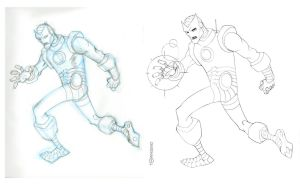 Retro Iron Man pencils by TimTownsend