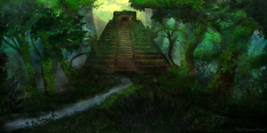 Aztec Pyramid by JKRoots