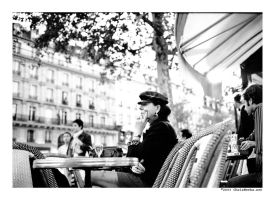 perplexed at the deux magots by cweeks