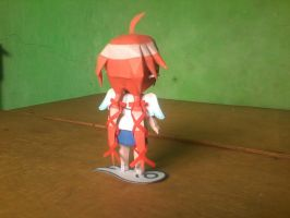 Chibi Ikaros Figurine Paper Model: Back View by MarcGo26