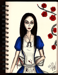 Daily sketch no.48 -American Mcgee's Alice- by IoannisCleary