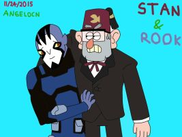 Crossover: Grunkle Stan with Rook Blonko by AngeloCN