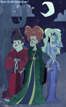 The Sanderson Sisters by DrewGreen
