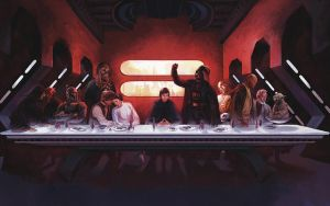 Star Wars - The Last Supper by JaxxTraxx