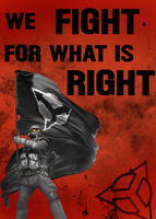 We fight for what is right by Colin-Kirby