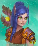 Blood Elf Monk by lowly-owly