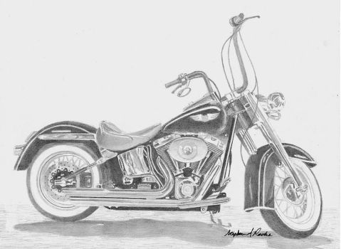 Harley-Davidson Softail COMMISSION by rooks10904