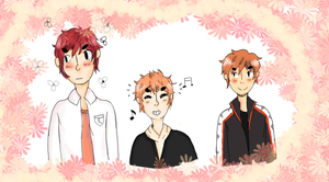 orange haired babes by nocht-e