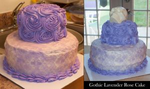 Gothic Lavender Rose Cake by GmrGirlX
