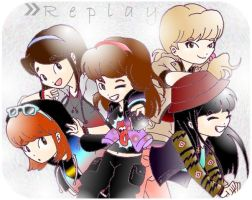 Replay japanese SHINee Girls by Pulimcartoon