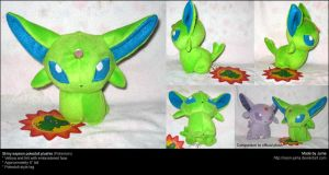Shiny Espeon pokedoll by Neon-Juma