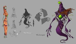 Character Design - Cosmic Ray Villain by meeoh