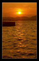 Sunset in Corfu Town by tonyeck