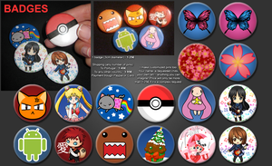 Badges for sale by Cheila
