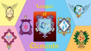 Wallpaper League of Elements with text by Barrfind