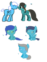 MLP Breedable Babies - Turquoise Shine x ?2 CLOSED by kitty910