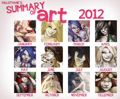 Art Summary 2012 by danielleclaire
