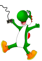 Yoshi the gamer by ZeFrenchM
