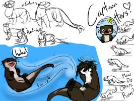 Otters by WhateverCat