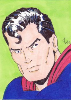 Man of STEEL -ACEO- by Jason-Lee-Johnson