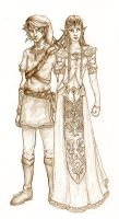 Link and Zelda by Sjostrand