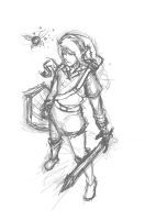 Legend of Link: the sketch of mess by OctoGear