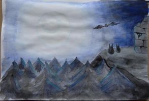 7 Days Color Challenge Day 5 - Blue Midnight by Narmita08