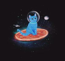 CAT PIZZA SPACE OMG YES by dandingeroz