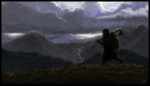Mountain warrior by woutart