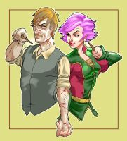 Lupin and Tonks by R-Stormcrow