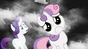 Wallpaper - Rarity and Sweetie Belle by Psalmie