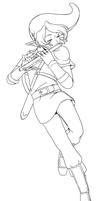 Play Us a Song on the Flute, Link! -Lineart- by Aeridis