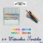 24 watercolour swatches by fmr0