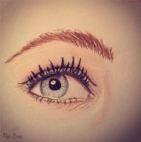 Eye Practice Drawing by piprxo
