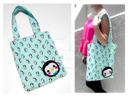 Penguin Tote by CosmiCosmos