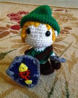 The Legend of Zelda: Crochet Link by Mickeycricky