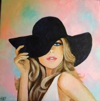 Lady with hat by MagneticartAgnes