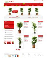 Plant World Online Shop by h1xndesign