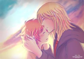 Kiss on the sunset - lomo ver by HanzaLee