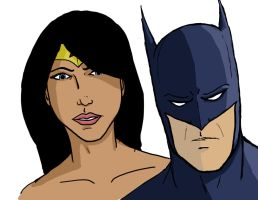 Batman and Wonder Woman by Noah0z