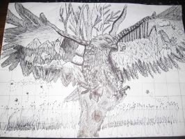 sharpie eagle by Edwardslittlevampire