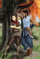 Makorra Week- Day 3: Genderbender by snowygem